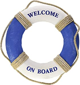 "Royal Brands Welcome On Board - Nautical Decorative Life Ring Buoy - Home Wall Decor - Nautical Decor - Decorative Life Ring Preserver 19"" Diameter"