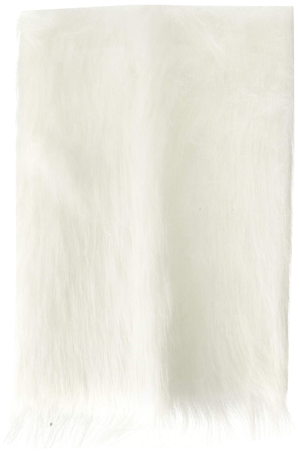 Darice Long Pile Fur - White - 9 X 12 P002/H-F1