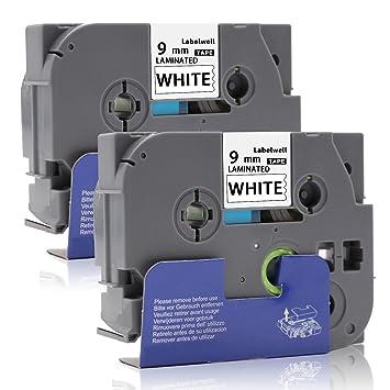 TZe-221 Etikett-Band Schwarz auf Weiß Kompatibel für P-Touch Etikett