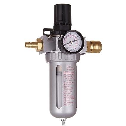 Filtro de aire comprimido unidad de mantenimiento Reductor de presión Regulador para compresor 0,010 acoplamiento rápido