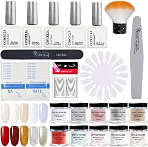 Dip Powder Nail Starter Kit 10 Colors Dipping Powder System for French Nail Manicure Tools Set