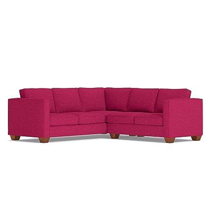 amazon com catalina 2 piece l sectional sofa pink lemonade rh amazon com light pink sectional sofa pink sectional sofa covers