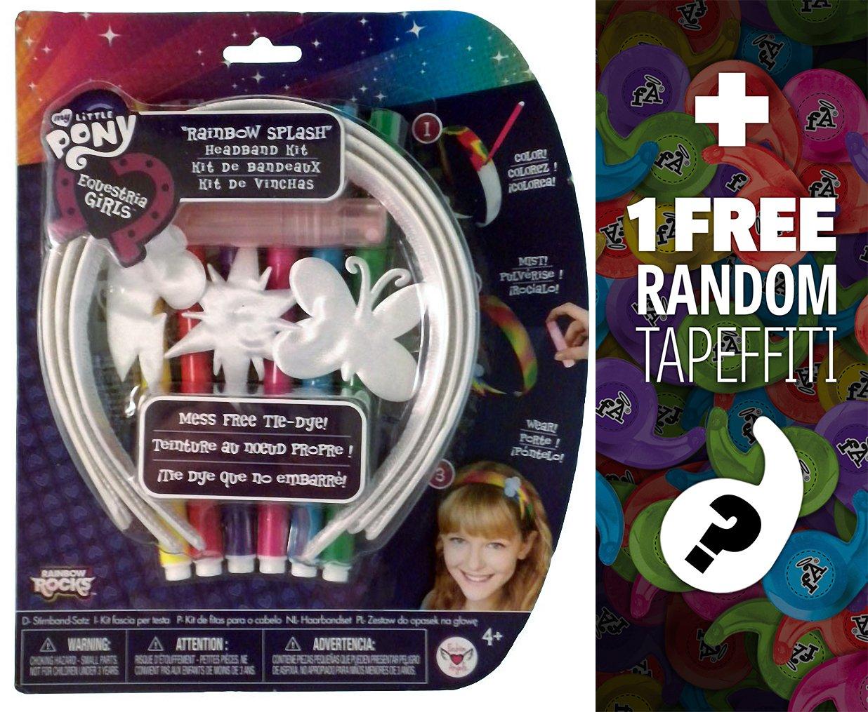 Rainbow Splash Headbands Decorate Your Own Kit: My Little Pony Equestria Girls Series + 1 FREE Mini-Tapeffiti Bundle