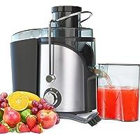 Licuadoras Para Verduras y Frutas, 400 W 27000RPM Exprimidor de Zumos y Extractor de Jugo Acero Inoxidable de Grado…
