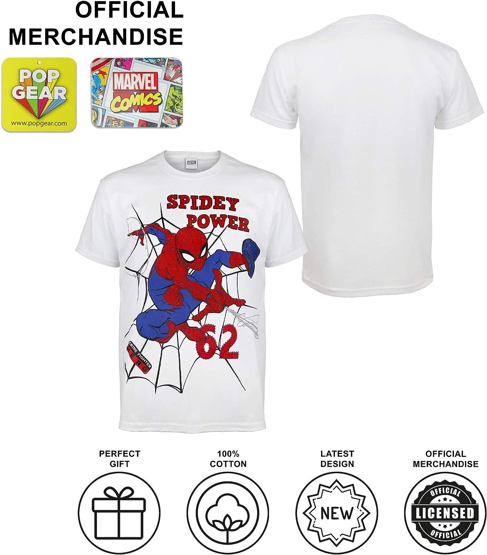 Marvel Comics Spider-Man Spidey Power Camiseta de los Muchachos/ mercanc/ía Oficial