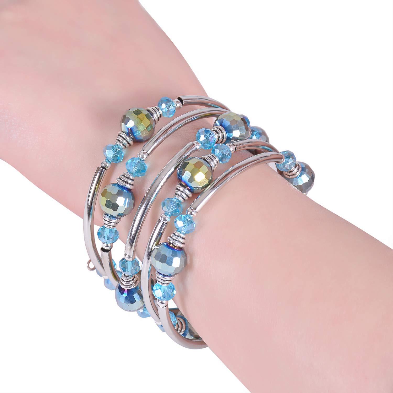 RONLLNA Bracelet for Women and Teens Birthstone Charm Eternal Love Crystal Jewelry for Women Girl