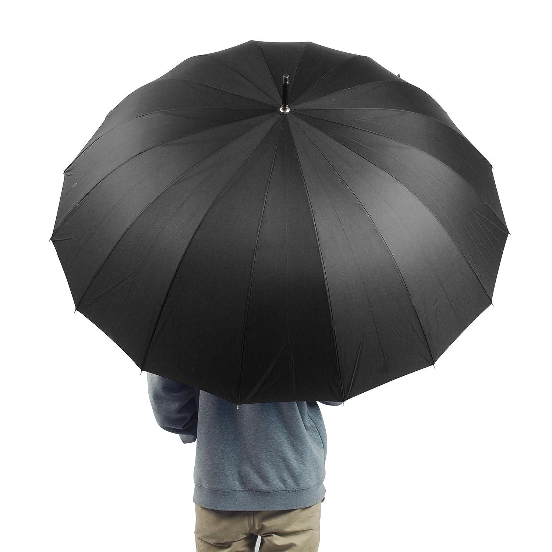 becko 54 inches auto open umbrella long umbrella with 16 ribs