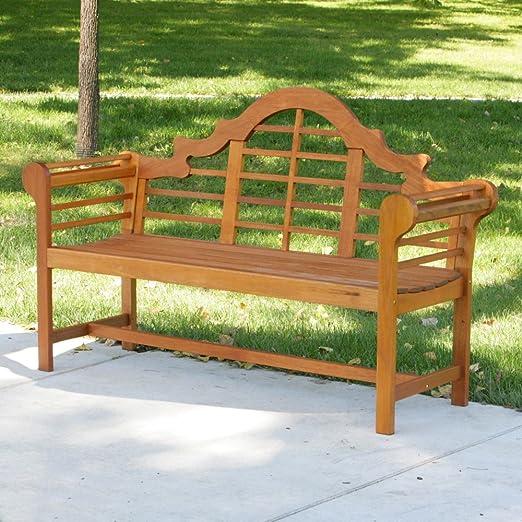 Amazon.com : Achla Designs Lutyen Bench, 5 Feet : Outdoor Benches : Garden  U0026 Outdoor
