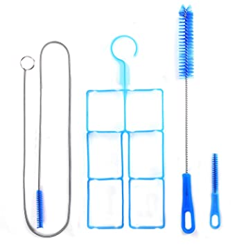 Universal 4 kit piezas de limpieza para hidratación cepillo largo y flexible cepillo pequeño grande soporte