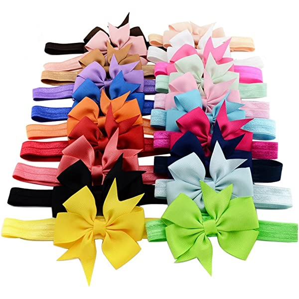20 PCS//Lot Baby Girl Infant Toddlers Kids Hair Bow Headbands Bands Accessories