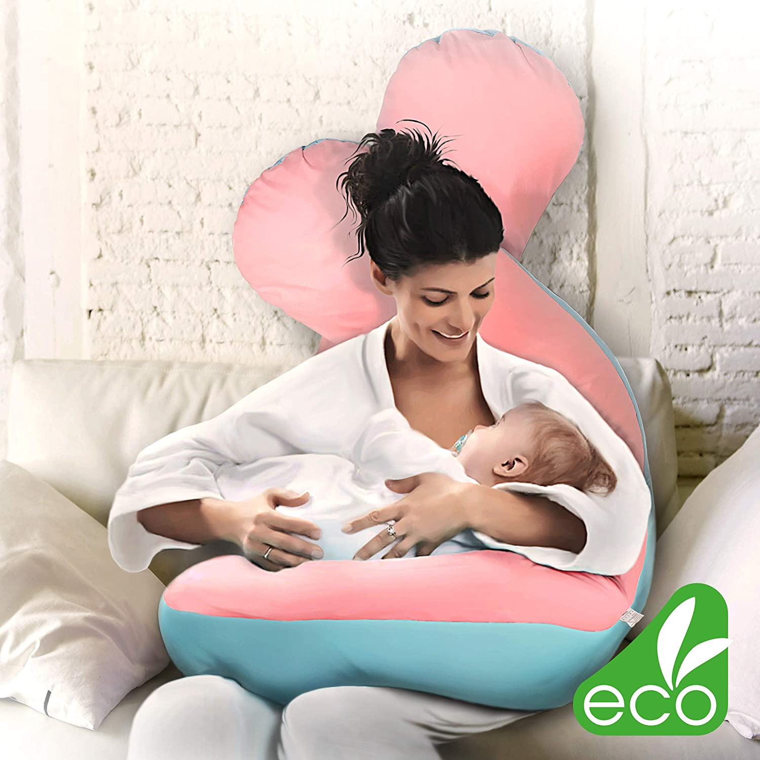 Large Pregnancy Pillow for Maternity Pink /& Blue IS U Shaped Pregnancy Pillow U Pregnancy Pillow Pregnancy Body Pillows