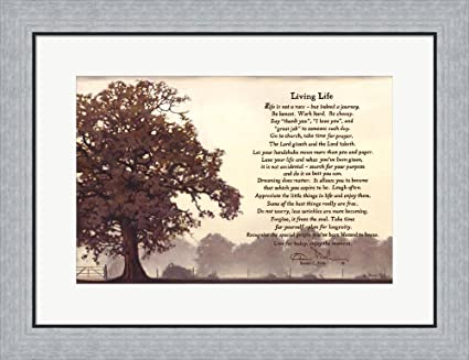 Living Life Sepia Tree By Bonnie Mohr Framed Art Print Wall Picture, Flat  Silver Frame