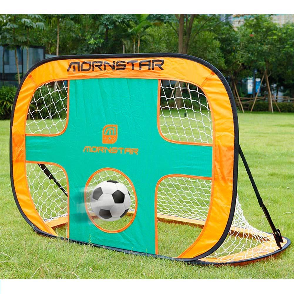 2 in 1 Soccer Rebounder Net PieghevoleInterno ed Esterno to Improve Soccer Passa e Solo competenze 3.5x2.5ft LeeSport Portable Football Rebounder