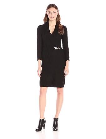 d45c6ab26dc Calvin Klein Women s 3 4 Sleeve Buckle Front Sweater Dress