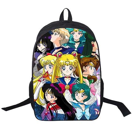 85160b95a62d YOYOSHome Anime Sailor Moon Cosplay Tsukino Usagi BookBag Daypack Backpack  School Bag