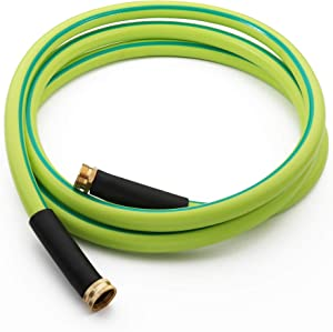 Atlantic Premium Hybrid Garden Hose 5/8 IN. x 12 FT. Working Under -4°F, Light Weight and Coils Easily, Kink Resistant,Abrasion Resistant, Extreme All Weather Flexibility (12FT)