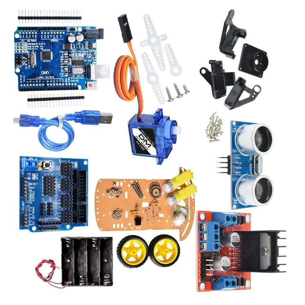 Morza 2-Rad-intelligente Roboter-Auto Chassis Kit Geschwindigkeit Encoder Sonic Sensor-Tracking Motor Module kompatibel f/ür Arduino-Projekt
