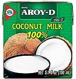 Aroy-D 100% Coconut Milk Mini-size 5.1 Fluid Ounce (150ml), Pack of 12