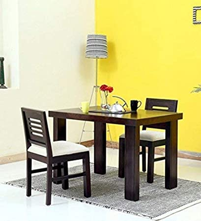 2d274d0f5c Santosha Decor Sheesham Wood 2 Seater Dining Table Set with Chairs for Home  and Living Room: Amazon.in: Home & Kitchen
