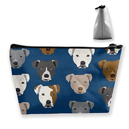 3f077e401137 Amazon.com: BIKAM Pitbull Heads Makeup Cosmetic Tote Bag Carry Case ...