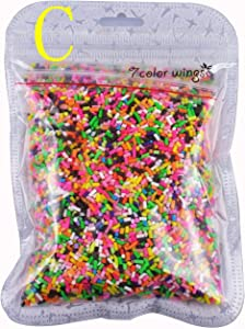 7COLOR WINGS Colorful Sprinkles Decorations Simulation DIY Polymer Clay Candy Sweets Sugar Simulation Food 100g (C)