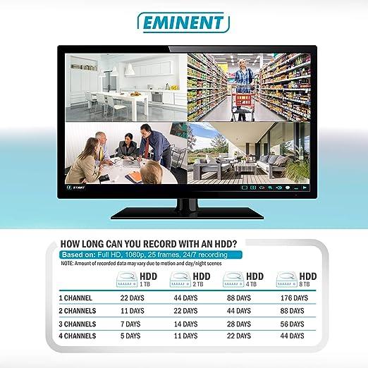 Eminent EM6304 Grabadore de vídeo en Red (NVR) Negro: Amazon.es: Electrónica