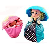 Evursua 2 Pack Transform Cupcake Doll with Surprise,Scented Mini Princess Dolls,Magic Gift Toys for 3 Year Old Girls (2 Pack)