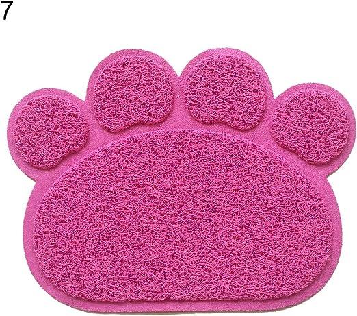 osmanthusFrag rectángulo Mascotas Mat Juego de Mesa Perro Gatos Dormir Forro Pad Forma de Huellas 1 Pieza: Amazon.es: Productos para mascotas