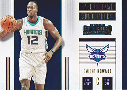 4c8d9df4947 Image Unavailable. Image not available for. Color  2017-18 Panini  Contenders Basketball Hall of Fame  1 Dwight Howard Charlotte Hornets