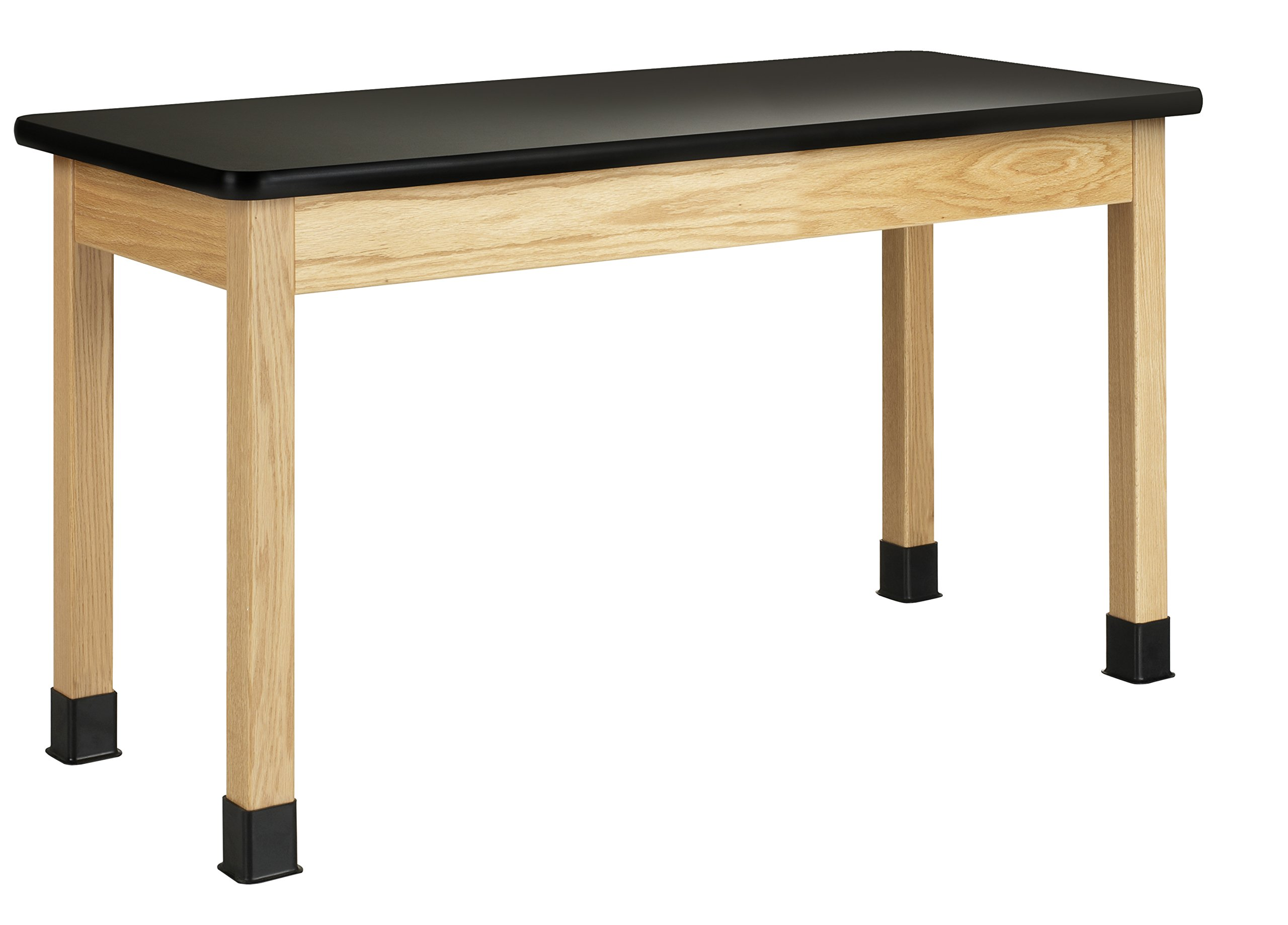 Diversified Woodcrafts P7201K30N Table - Plain Apron, Black Plastic Laminate Top, 24'' x 54'', 30'' Height, Black/Northwoods Oak by Diversified Woodcrafts (Image #1)