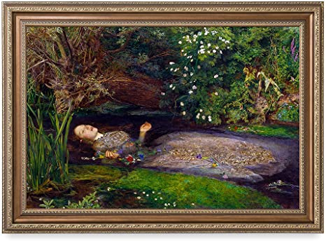 Amazon Com Decorarts Ophelia By John Everett Millai Oil Painting Reproduction Giclee Print On Canvas Ready To Hang Framed Wall Art For Home And Office Decor Total Size W Frame 35x25 Posters