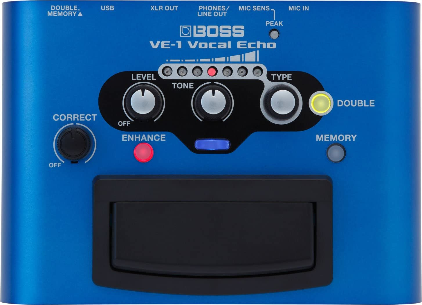 BOSS Vocal Echo Effects Processor Stompbox Guitar Pedal, (VE-1) (VE-1)