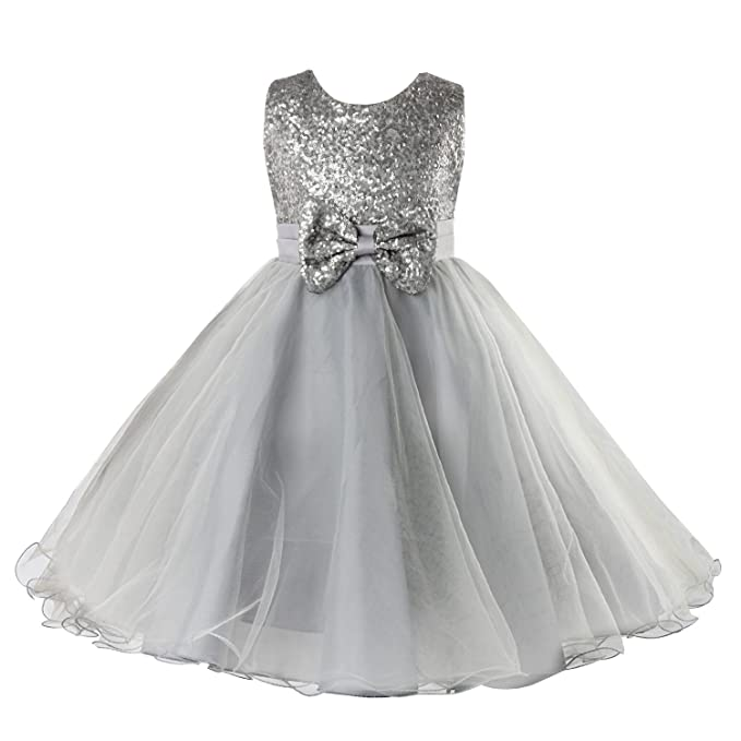 31268e1569 Amazon.com  Acecharming Little Girls  Sequin Flower Tulle Tutu Dress ...