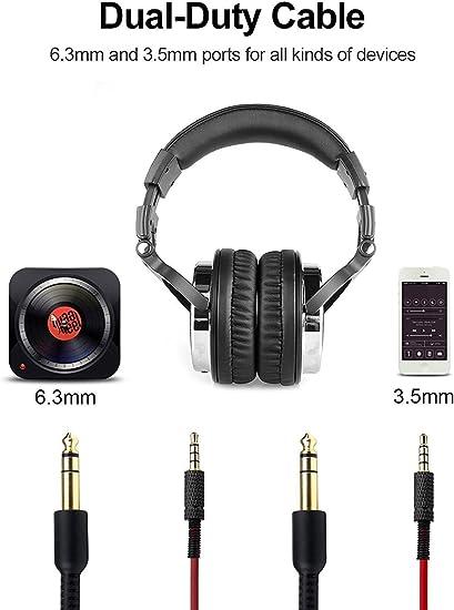 OneOdio Auriculares para oídos, Audífonos cerrados DJ Studio, sin ...
