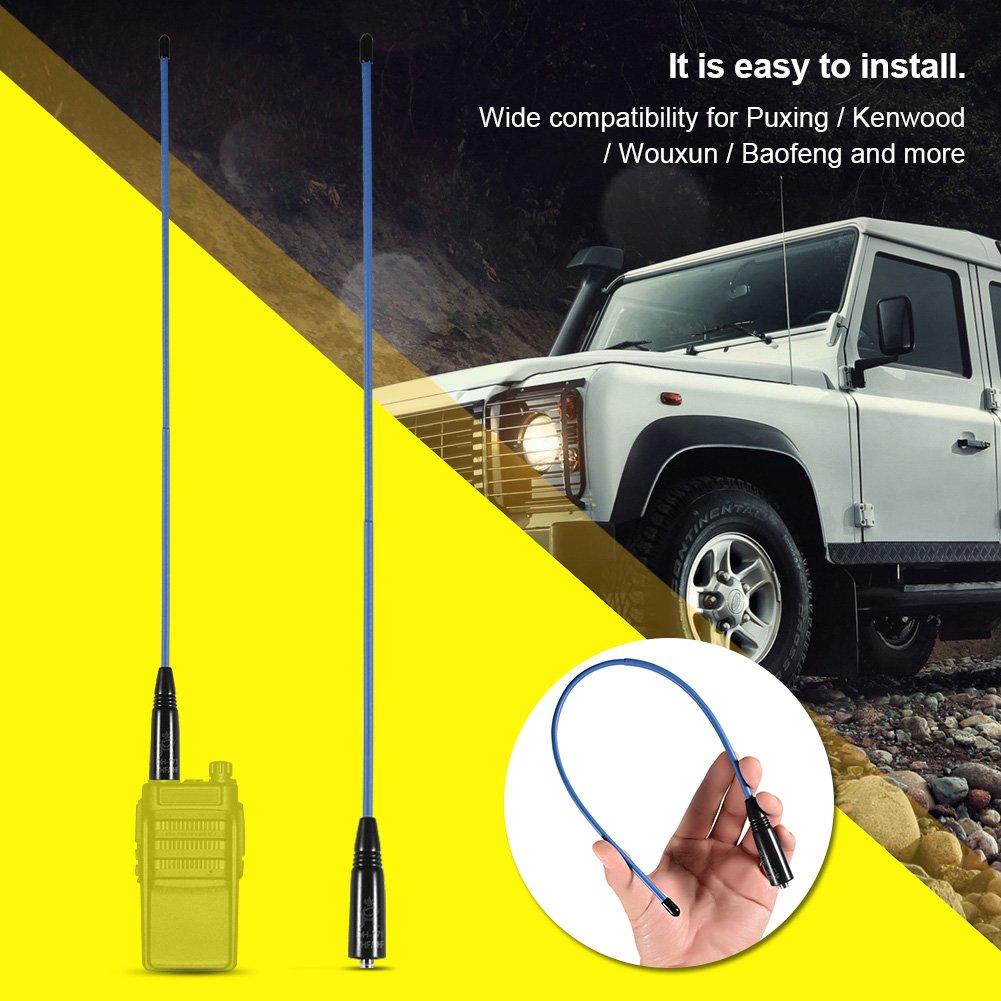 Zerone Antena de radio de doble banda VHF//UHF 144//430 MHz hembra de dos v/ías