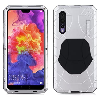 the best attitude 1dfde 2214b CRESEE P20 Pro Case, Huawei P20 Pro Metal Case with Kickstand Aluminum  Alloy Bumper Shockproof Dust Proof Protective Case Tough Military Heavy  Duty ...