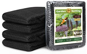 JERIA 7.55 x 65 feet Garden Netting, Extra Strong Bird Netting, Protect Plants and Fruit Trees, Doesn't Tangle and Reusable, Lasting Protection Against Birds, Deer and Other Pests