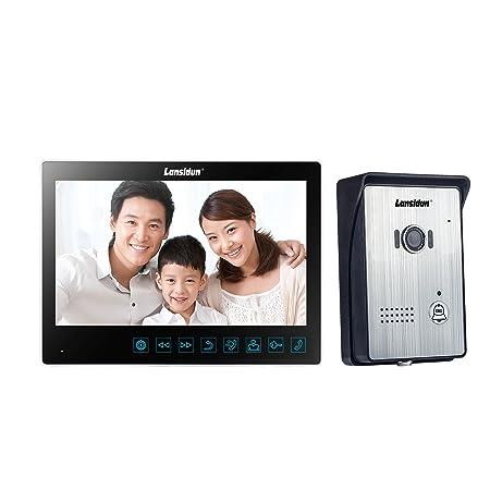 Lansidun 10 Inch Wired Video Door Phone Doorbell Intercom Entry