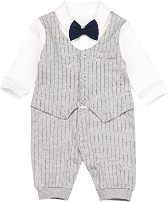 NEW FISHER-PRICE BOYS STRIPED ROMPER 0//3M 3//6M