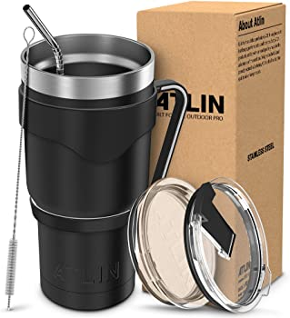 Atlin Sports 30 oz. Stainless Steel Vacuum Travel Mug