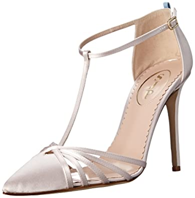 2bef12714 SJP by Sarah Jessica Parker Women's Carrie Closed Toe T-Strap Ankle Pump,  Moonstone