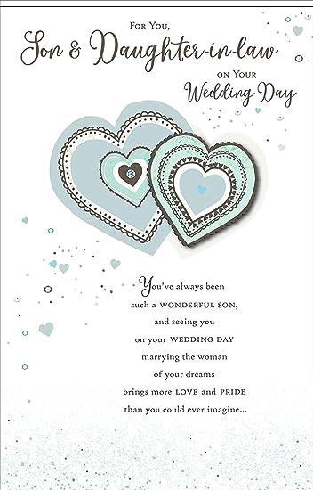 Amazon.com: Tarjeta de felicitación para el día de boda ...