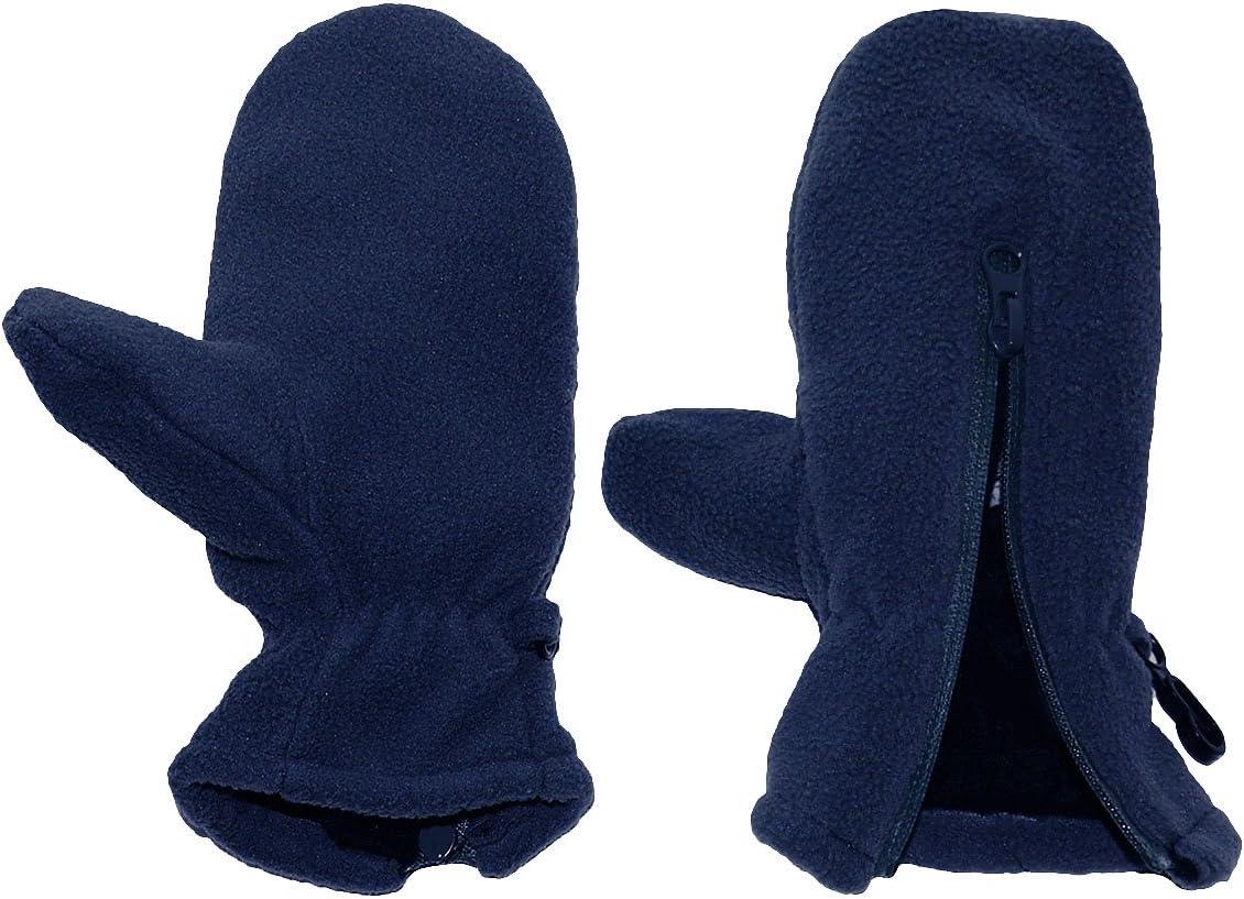 LEICHT anzuziehen dunkelblau alles-meine.de GmbH Fausthandschuhe mit Daumen Gr/ö/ße: 1 bis 2 Jahre mit Rei/ßverschlu/ß Fleece Fleecehandschuhe // Kinder /& Babyhandsc..
