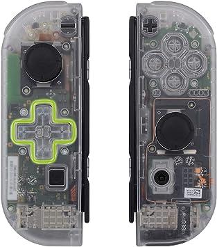 eXtremeRate Carcasa Translúcida(D-Pad Versión) para Joy-con de Nintendo Switch Funda de Agarre Reemplazable Joycon Shell con Botón Completo para Nintendo Switch-No Incluye Carcasa de Consola: Amazon.es: Electrónica