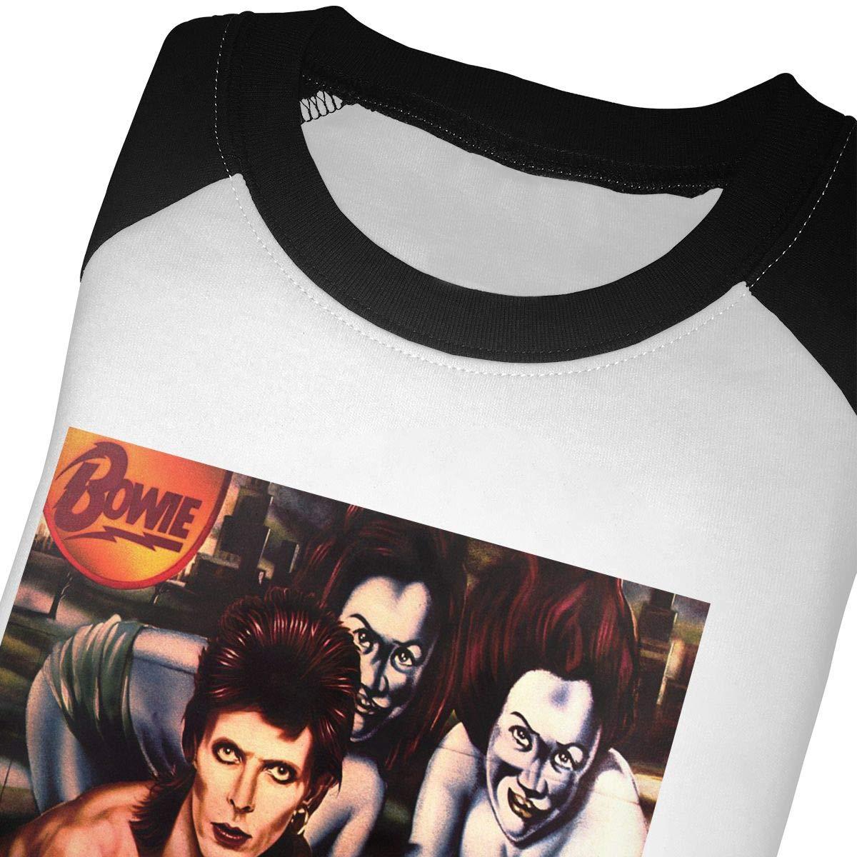 Diamond Dogs Childrens 3//4 Sleeve T-Shirt Black6Red David Bowie