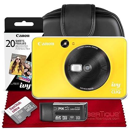 Canon Ivy CLIQ Impresora de cámara instantánea (Bumblebee Yellow ...