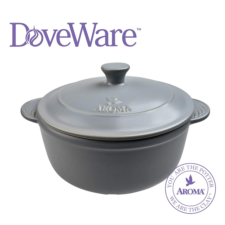 Aroma Housewares Aroma DoveWare Dutch Oven 2.5 quart, Slate Gray (ADC-103SG),