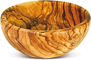 Olive Wood Bowl by Arte Legno Spello | Hand Crafted 100% Olive Wood Bowl Perfect for Appetizers, Olives, Dips and More! Serving Bowls Small, Medium and Large | Hand Made in Italy (6 Inch)