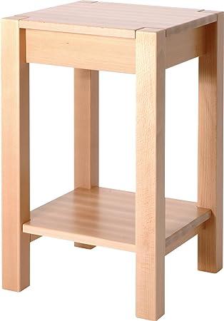 Haku Möbel 30416 Beistelltisch 35 X 35 X 60 Cm Buche Gedämpft