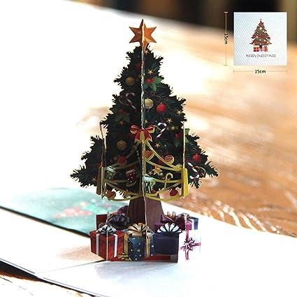 Tarjeta hueca tallada en 3D para el árbol de Navidad ...